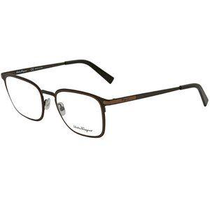 SALVATORE FERRAGAMO Brown Mens Eyeglasses